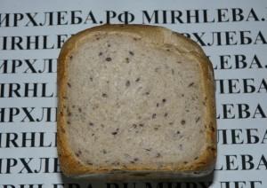 Хлеб с семенами льна на закваске
