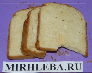 Хлеб для бутербродов в разрезе
