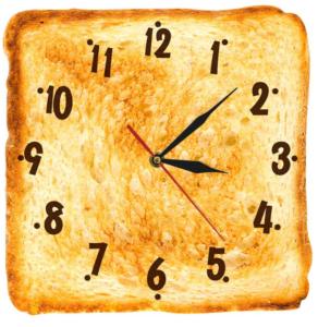 Часы в виде поджаренного тоста
